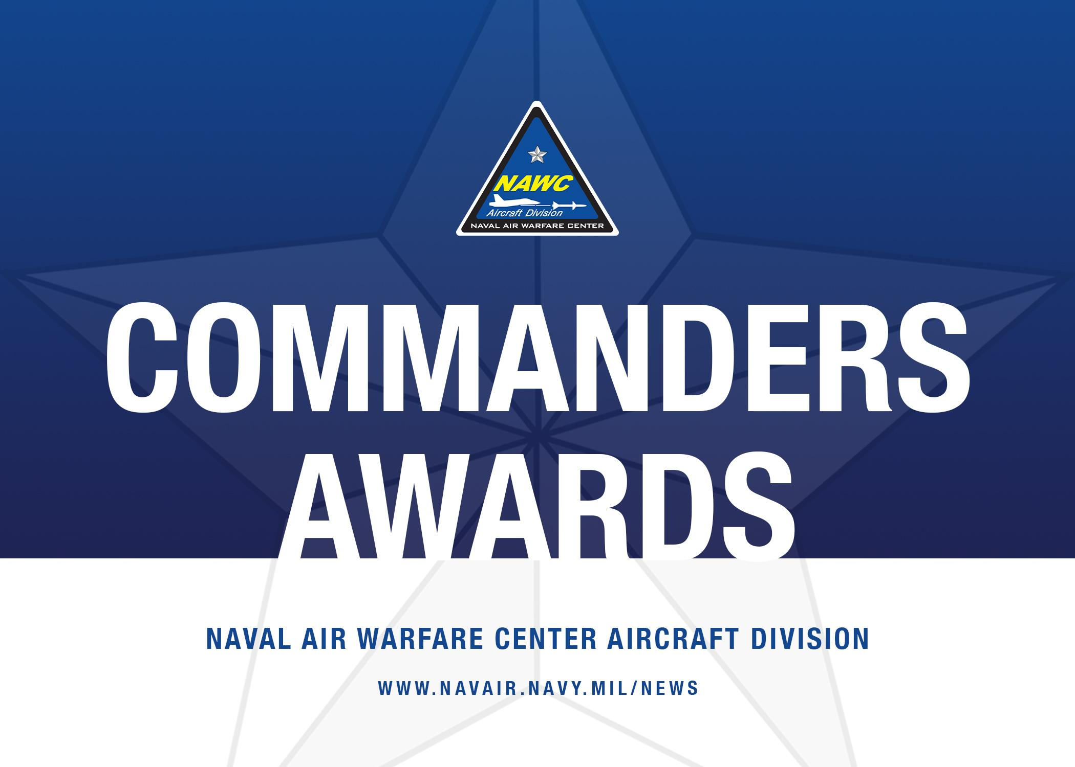 Naval Air Warfare Center Aircraft Division's Commander's Awards graphic