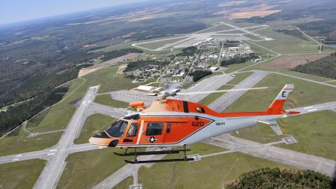 TH-73A over Leonardo facility
