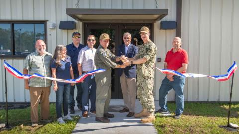 Fleet Readiness Center Southeast (FRCSE) inducted its newest facility, Building 226.