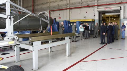 Tour group learns about engine program