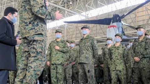 Japanese Ground Self Defense Force's Transportation Aviation Group (TAG) Ceremony