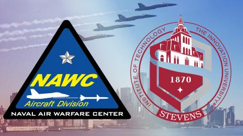 NAWCAD Lakehurst and Stevens Institute of Technology Logos